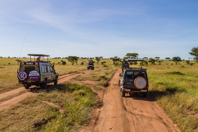 Off road vehicle passing through national park - East Africa - Tanzania