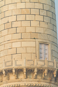 Close-up of minaret of Taj Mahal - India - Agra - Uttar Pradesh