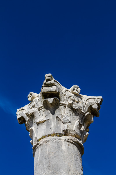 Low angle view of column in Volubilis - Morocco - Volubilis