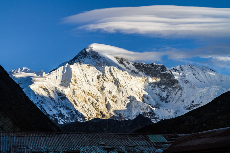 View of snowcapped Himalaya mountain - Khumbu Region - Nepal