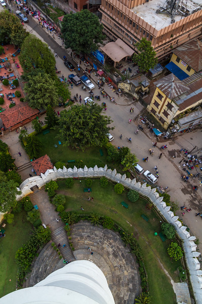 View of city from Dharahara tower - Nepal