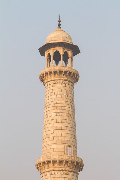 View of minaret of Taj Mahal - India - Agra - Uttar Pradesh