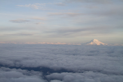 Mt. Rainier At Sunset From 15,000'