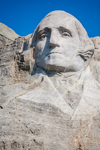 Bust of George Washington at Mount Rushmore National Memorial - USA - South Dakota