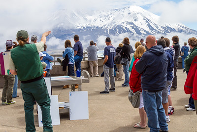 A National Park ranger explains how Mount Saint Helens erupted in 1980 - Washington- USA