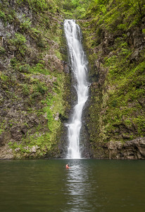 View of waterfall - USA - Hawaii
