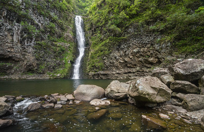 Hidden Waterfall, Moloka'i, Hawaii, USA