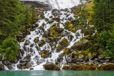 View of waterfall - USA - Alaska