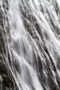 Close-up of waterfall - USA