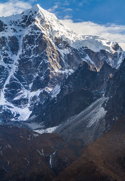 Taboche Peak And Valley At Sunrise, Nepal, Asia