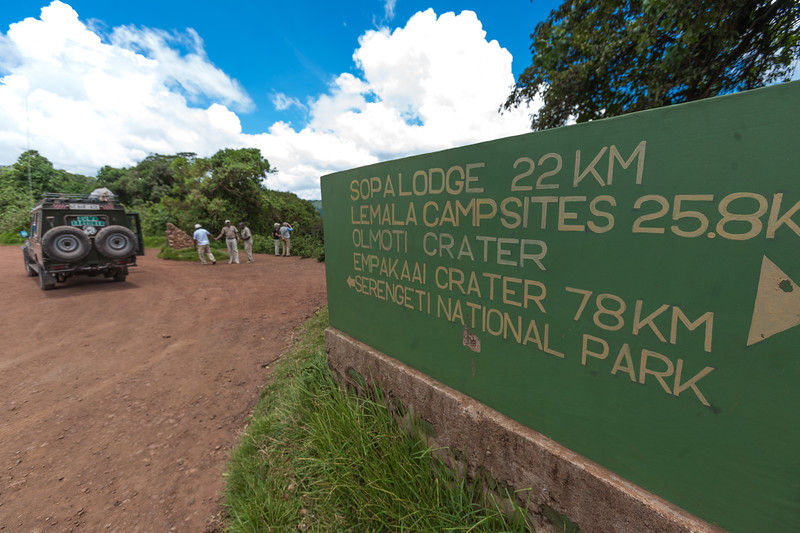 Information sign at Serengeti National Park - East Africa - Tanzania