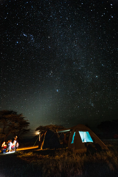 Camping under starry sky - East Africa - Tanzania