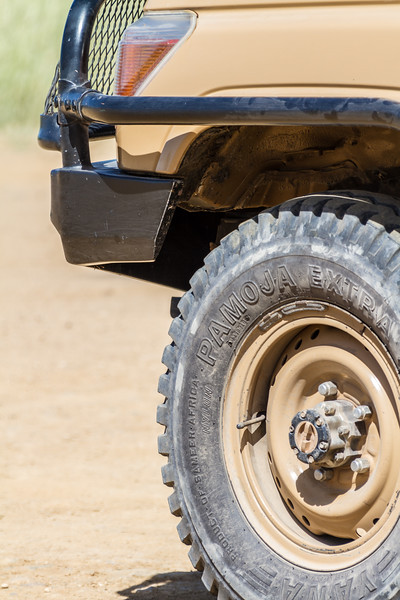 Close-up of off road vehicle - East Africa - Tanzania