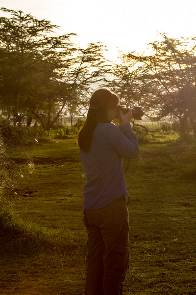 Woman taking photograph of nature - East Africa - Tanzania