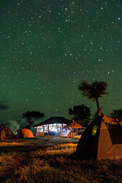 Camping under star trail - East Africa - Tanzania