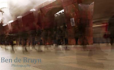 2014 K November 2014 Moscow Metro Marksistskya Rush Hour 3