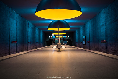 yellow and blue - Munich subway