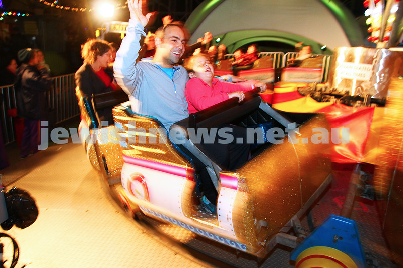 30-9-15. Chabad Youth annual Succot at Luna Park. Ronny and Noa Kowadlo. Photo: Peter Haskin