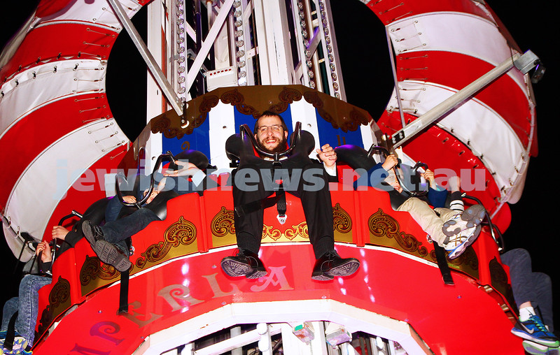 30-9-15. Chabad Youth annual Succot at Luna Park. Yisroel Kohn. Photo: Peter Haskin