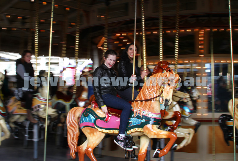 13-10-14. Chabad Youth's annual Succot celebration at Luna Park. Photo: Peter Haskin