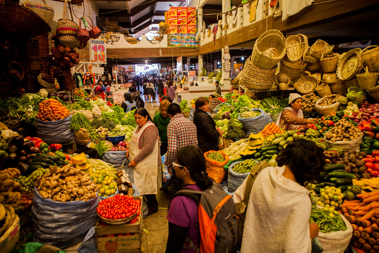 Mercado Central, main market of Sucre, Bolivia