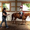A riding lesson with Lisa Lawrence of Coventry Woods Stables.  6/14/2018