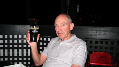 Enjoying his Guinness at Reill(e)y's