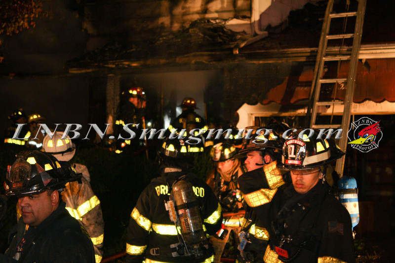 Brentwood F D  Working House Fire 355 Whipple St  11-22-11-71