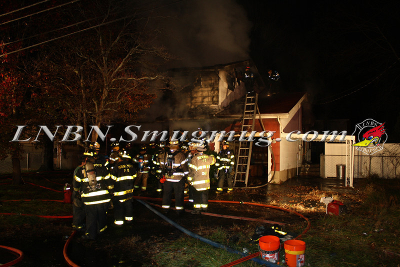Brentwood F D  Working House Fire 355 Whipple St  11-22-11-69