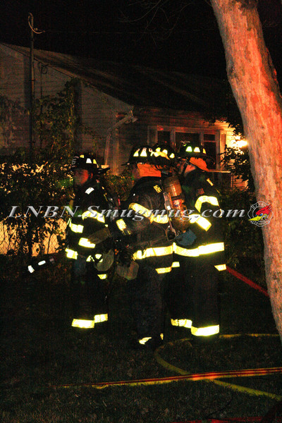 Brentwood F D  Working Vacant House Fire 66 Patton Ave 10-17-11-40