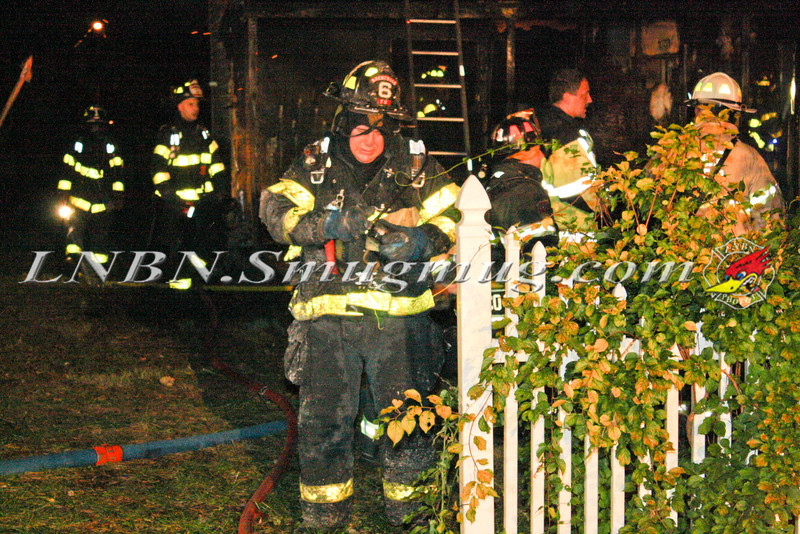 Brentwood F D  Working Vacant House Fire 66 Patton Ave 10-17-11-6