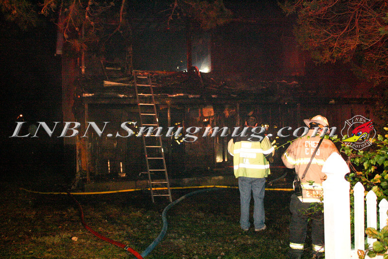 Brentwood F D  Working Vacant House Fire 66 Patton Ave 10-17-11-5