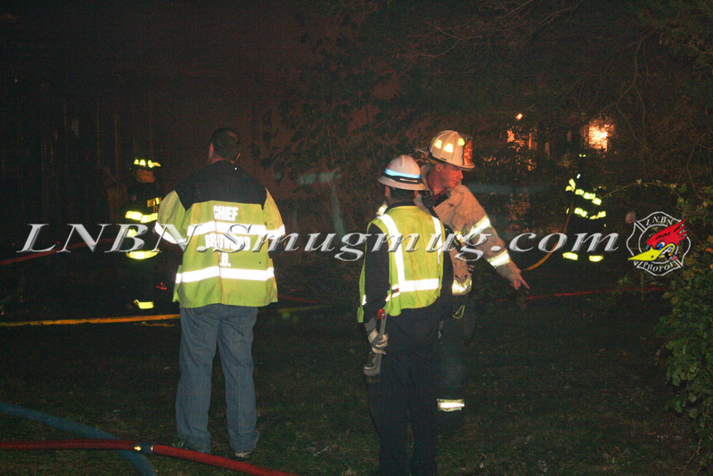 Brentwood F D  Working Vacant House Fire 66 Patton Ave 10-17-11-2