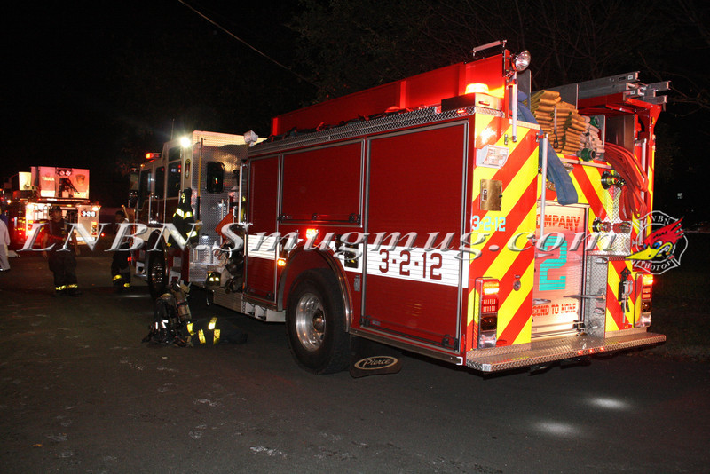 Brentwood F D  Working Vacant House Fire 66 Patton Ave 10-17-11-86