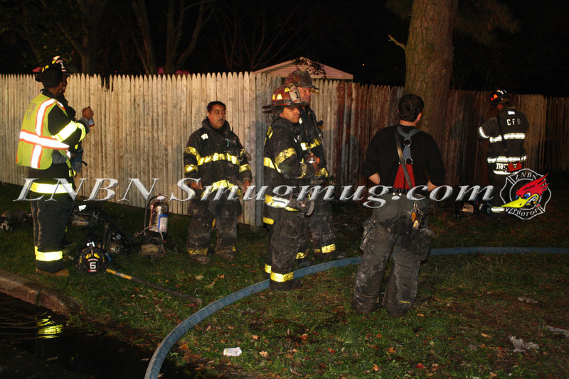 Brentwood F D  Working Vacant House Fire 66 Patton Ave 10-17-11-56