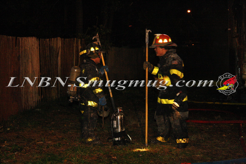 Brentwood F D  Working Vacant House Fire 66 Patton Ave 10-17-11-47