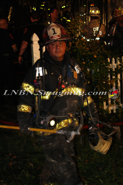 Brentwood F D  Working Vacant House Fire 66 Patton Ave 10-17-11-46
