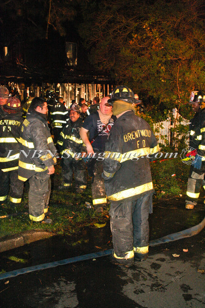 Brentwood F D  Working Vacant House Fire 66 Patton Ave 10-17-11-69