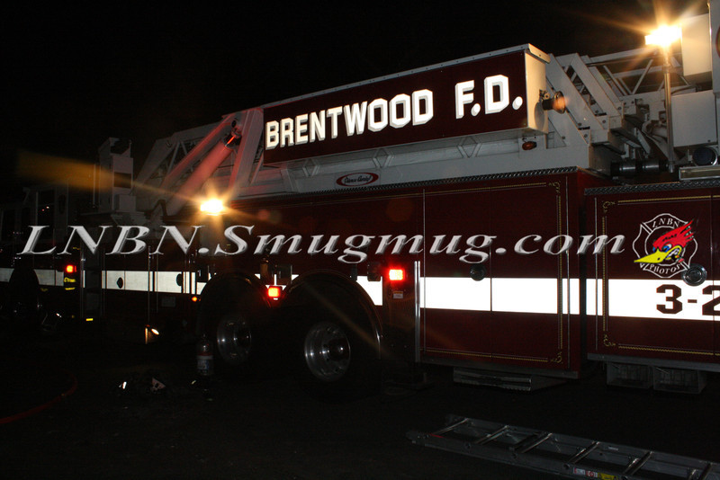 Brentwood F D  Working Vacant House Fire 66 Patton Ave 10-17-11-43