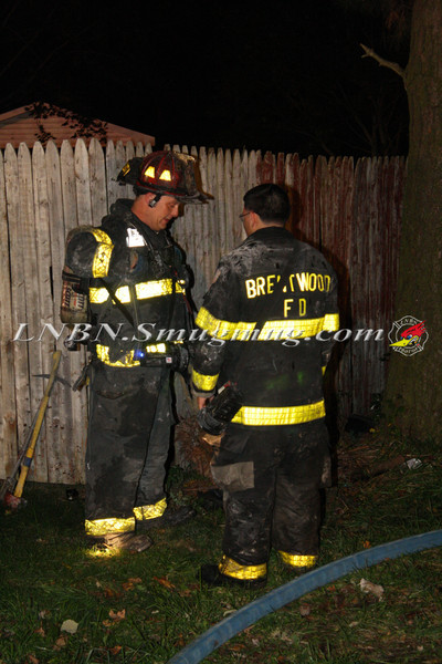 Brentwood F D  Working Vacant House Fire 66 Patton Ave 10-17-11-48