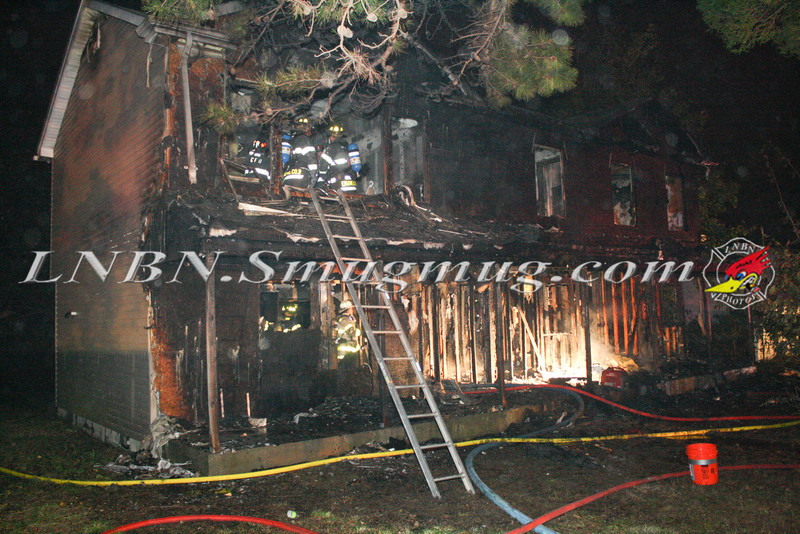 Brentwood F D  Working Vacant House Fire 66 Patton Ave 10-17-11-52