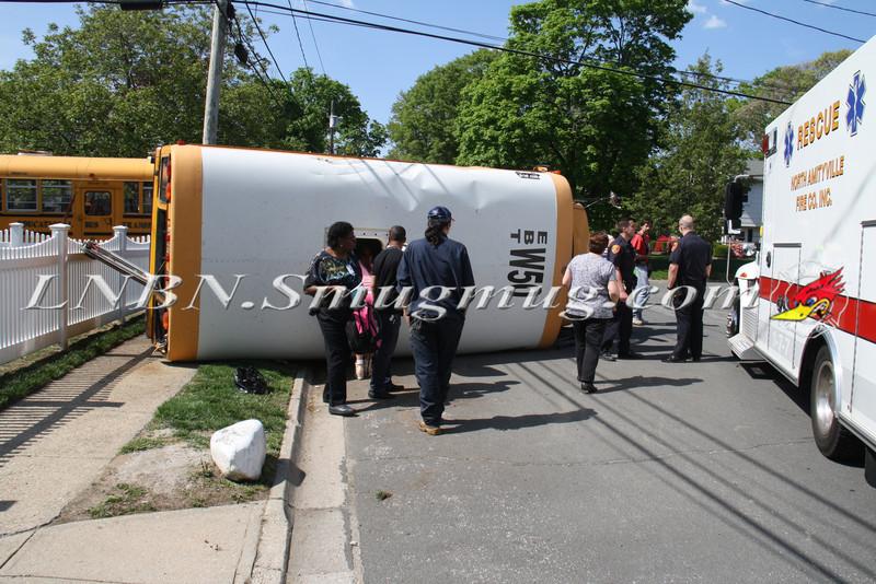 Copiague School Bus Overturn MVA-1