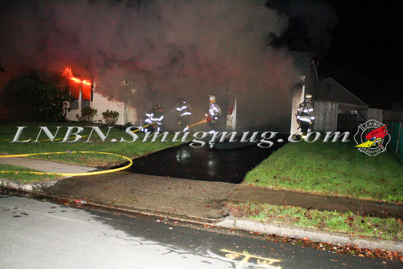 Copiague F D -Working Vacant House Fire 15 Saltaire Rd East 10-17-11-1
