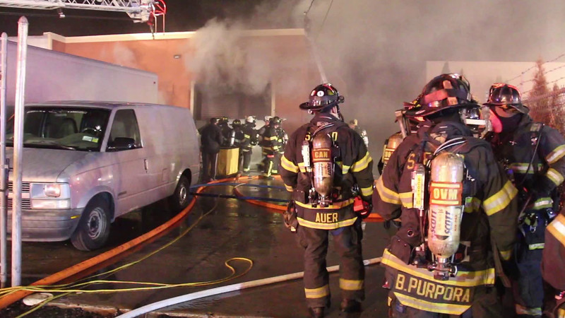 East Farmingdale Building Fire 124 Marine St 3-17-15