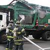 Lindenhurst Garbage Truck Fire-14