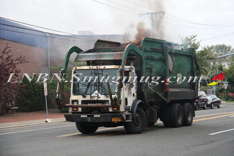 Lindenhurst Garbage Truck Fire-1