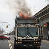 Lindenhurst Garbage Truck Fire-4