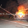 Lindenhurst Overturned Auto w- Vehicle Fire Park Ave  5-2-13-3