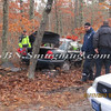 Manorville F D  Car into Woods  Schultz Rd 1-17-12-1