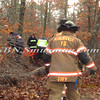 Manorville F D  Car into Woods  Schultz Rd 1-17-12-5